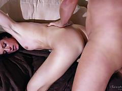 India summer getting stuffed hard in her pussy
