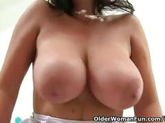 England's sexiest nurse lulu lush exposing her natural big tits and pussy
