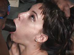 threesome, bdsm, babe, interracial, deepthroat, tied, bbc, device bondage, real time bondage, matt williams, jack hammerx, devilynne