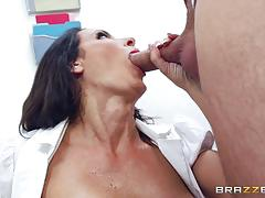 keiran lee, reagan foxx, brunette, riding, doggystyle, cumshot, facial, nurse, cowgirl, spooning, licking pussy