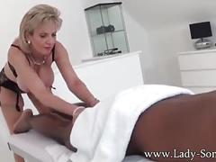 Lady sonia black guy massage, handjob, blowjob and titjob - the works!
