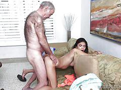 babe, old man, latina, blowjob, brunette, from behind, thick cock, blue pill men, michelle martinez