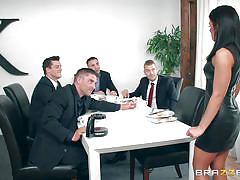 Gangbang at the meeting