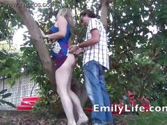 Fucking me in the garden for the voyeurs o my livecam  on my site emilylife.com