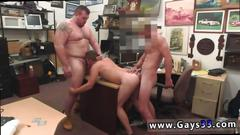 Straight guy smashed by a hunk and a fat pig