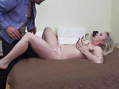 She can use both her mouth and feet to make her lover cum