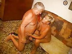 blonde, granny, mature, saggy tits, blowjob, pussy licking, hairy pussy, missionary, oma hotel, old nanny, heidrun