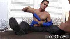 Young gay male gets his feet worshiped in this super hot fetish scene