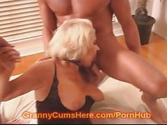 My granny is a cum slut