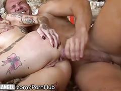 Burningangel hot anal creampie on public beach!