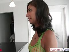 Sexy brunette jade jantzen gets nailed