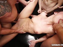 Sexy deanna gets gangbanged by 6 dicks