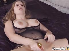 big tits, lingerie, toy, masturbation, stockings, pornstar