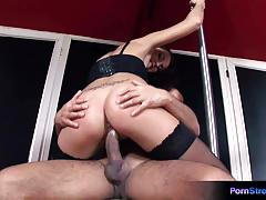 Fetching babe rose fucked by a thick dick