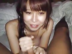 Hot handjob from my sexy japanese gal
