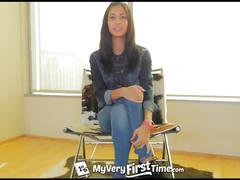 Myveryfirsttime - nervous jade jantzen has her first dp on camera