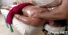 Nasty twink fucks with his bum drilling masseuse