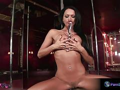 Busty pole dancer christina bella masturbating