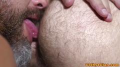 Bearded mature straighty asspounding stud