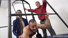 Office hunks have wild butt fucking party