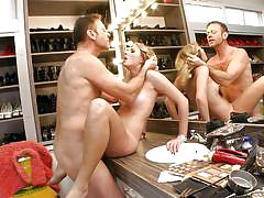 They got horny while shopping @ rocco's perfect slaves