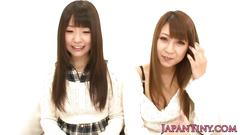 Beautiful tiny japanese babes fingered in threeway