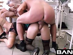 Bang.com: horny bunch of babes piss on each other