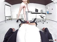 Pov sex with cute schoolgirl vr style