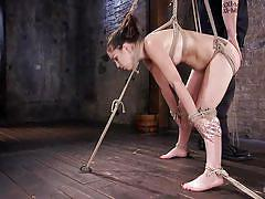 bdsm, babe, slave, domination, dildo, hairy pussy, anal hook, shibari, rope bondage, hogtied, kink, juliette march, the pope
