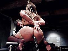 anal, bdsm, big ass, babe, dildo, ball gag, nipple clamps, rope bondage, slave training, the training of o, kink, owen gray, abella danger