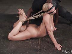 Nylon fetish and rope bondage