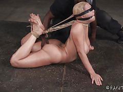 milf, bdsm, big tits, ebony, interracial, domination, blindfolded, rope bondage, nylon fetish, hard tied, darling, jack hammerx