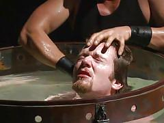 tattooed, rope bondage, suspended, whipping, water bdsm, torture, suffocation, 30 minutes of torment, kink men, patrick knight