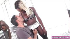 Black shemale kendall dreams gives head and gets barebacked