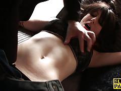 Kinky brunette loves to tease