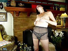Horny housewife masturbating