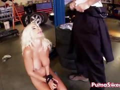 Euro puma swede gets fucked hard to fix her car!