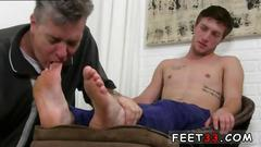 Cute boy feet gay sexy logans feet socks worshiped