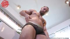 Sexy chef shows his underwear