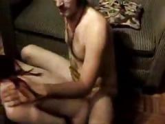Cute brunette sucks, rides and gets fucked clip