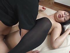 Stocking clad amateur loves to fuck