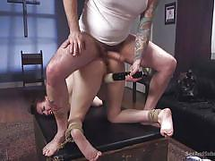 anal, bdsm, babe, rough sex, domination, vibrator, brunette, from behind, ball gag, rope bondage, sex and submission, kink, tommy pistol, casey calvert