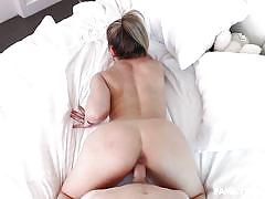 milf, blonde, big ass, from behind, reverse cowgirl, hard fucking, pov sex, stepsiblings, family strokes, carmen valentina