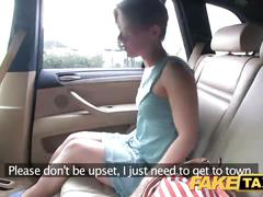 Fake taxi passenger rides her biggest cock