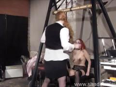 Dirty mary lesbian pussy whipping and amateur bdsm of play piercing redhead slav