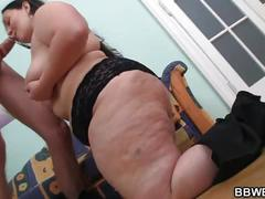 Huge ass big belly fatty picked up and banged