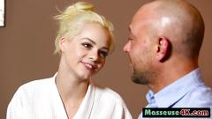 Blonde masseuse elsa jean riding big rod cowgirl