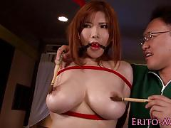 Busty asian loves to fuck