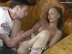 Wild brunette loves cock