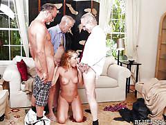 small tits, blonde, handjob, babe, old man, foursome, blowjob, fingering, boobs groping, blue pill men, raylin ann
